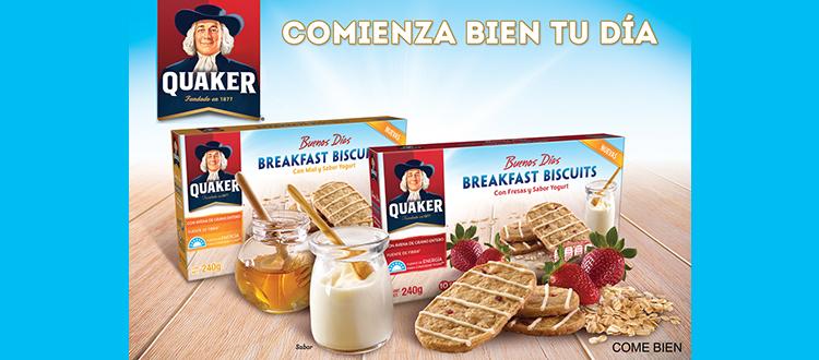 Quaker presenta las nuevas galletas Breakfast Biscuits