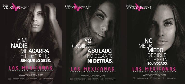 """Vicky Form lanza la campaña """"Las mexicanas tenemos mucho que enseñarte"""""""