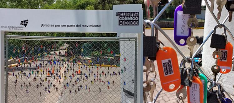 """ifahto a cargo de las activaciones de la campaña """"Cuenta Conmigo México"""""""
