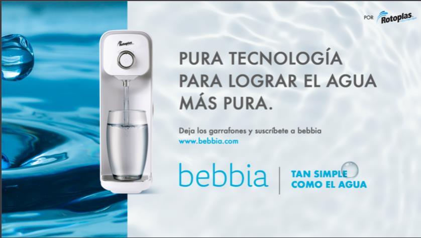 bebbia revoluciona el mundo del agua purificada y lanza campaña en México