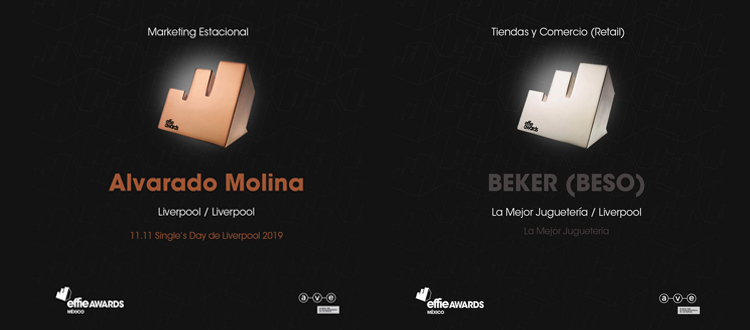 Destaca Liverpool en Effies México con 3 metales