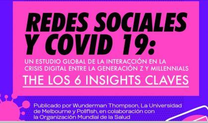 Redes sociales y COVID 19, un estudio global de la interacción en la crisis digital entre la generación Z y Millennials.