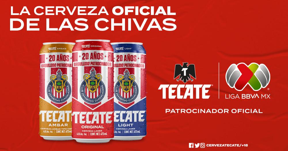 Tecate renueva patrocinio con Chivas  y celebra alianza con lata conmemorativa