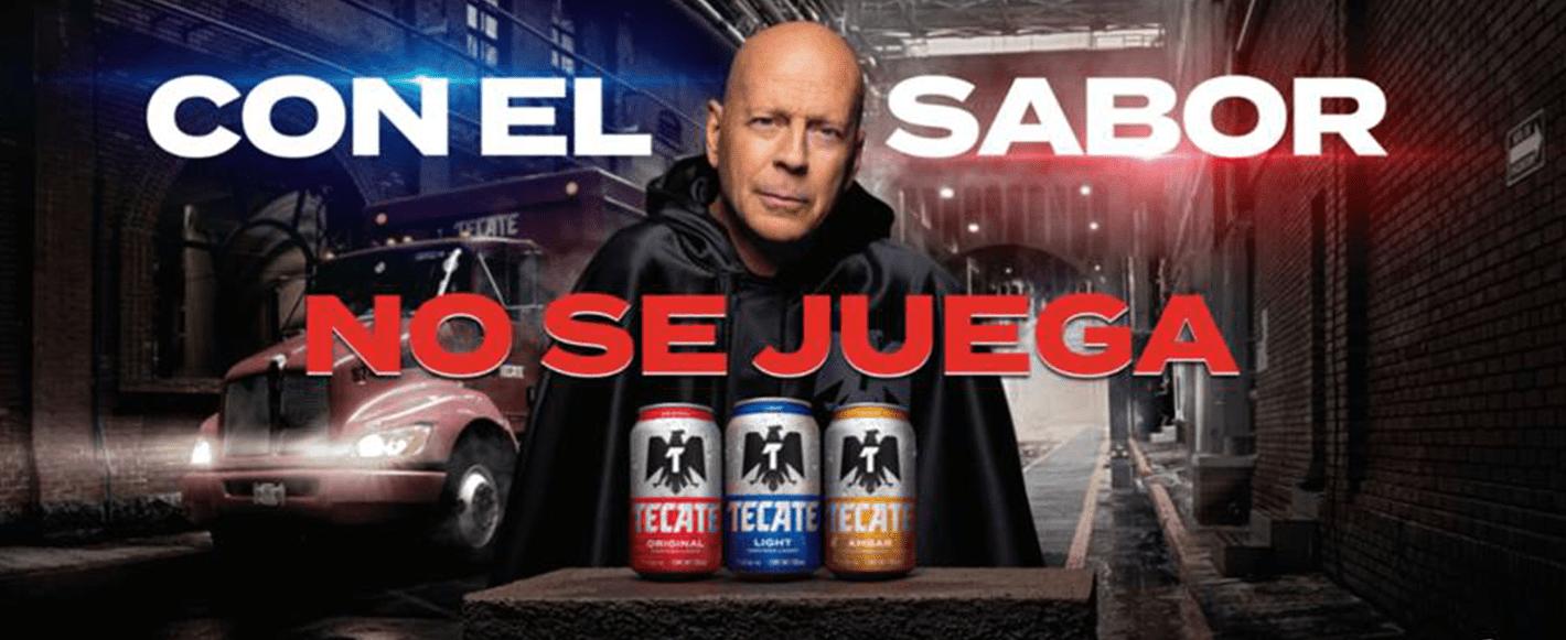 Bruce Willis estelariza la nueva campaña creada por Rock The Agency para Tecate