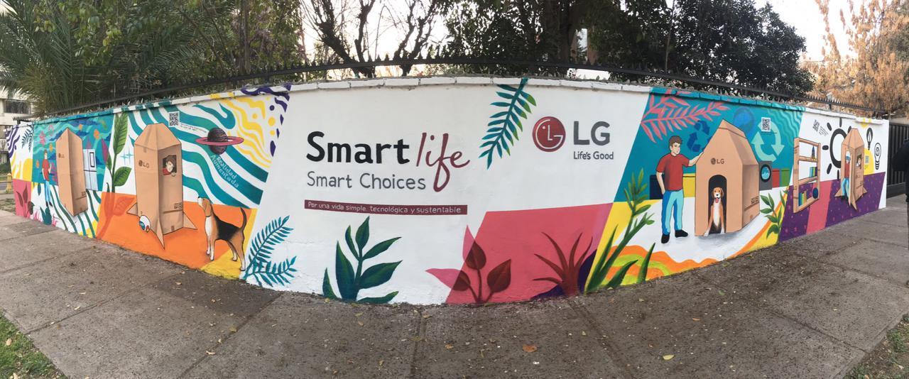 LG Electronics junto a Planta inauguran muro sustentable que absorbe CO2 del ambiente